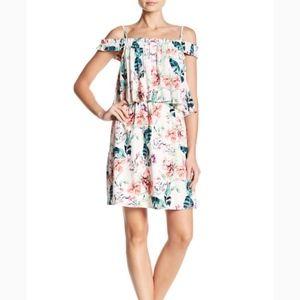 Sanctuary Dress NWT Cold Shoulder Floral L (P32)